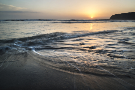 Beautfiul sunset over Kimmeridge Bay Jurassic Coast England