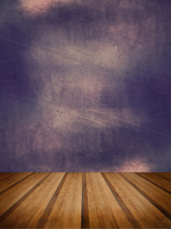 Grunge texture abstract background with wood floor platform photo
