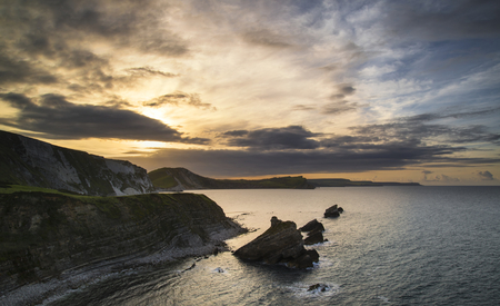 mupe bay: Beautiful sunrise over Mupe Bay landscape on Summer morning