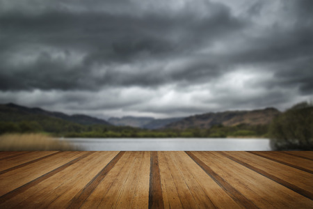 colorfu: Stormy dramatic sky over Lake District landscape in England