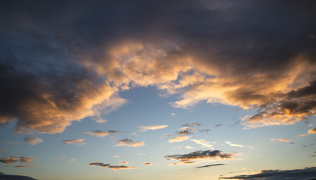 vibrant colours: Summer sunset sky with vibrant colours background