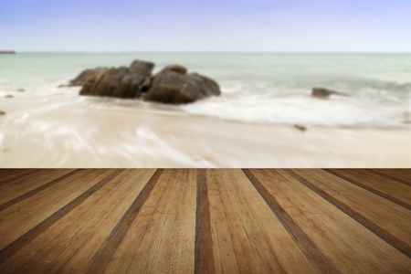 sennen: Sennen Cove beach before sunset in Cornwall England with wooden planks floor Stock Photo