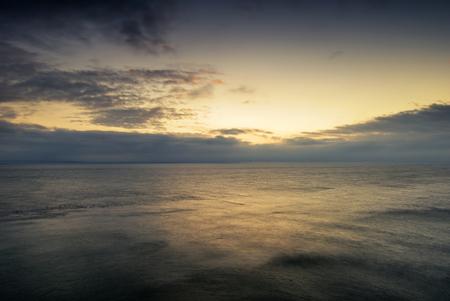 colorful sunrise: Beautiful colorful sunrise landscape over calm sea