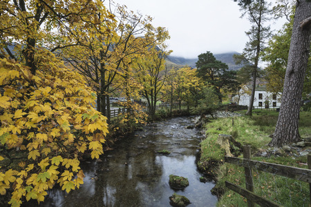 fall landscape: Stunning Autumn Fall landscape image of Lake Buttermere in Lake District England