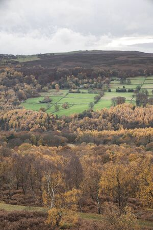 Beautiful Autumn Fall landscape scene from Surprise View in Peak District in England 写真素材