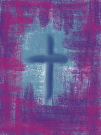 One off digitally generated Easter religious abstract art design for use as wall art, poster, wallpaper or background Banque d'images