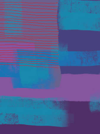 One off digitally generated abstract art design for use as wall art, poster, wallpaper or background Banque d'images