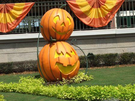 Pumpkin sculpture on halloween Reklamní fotografie