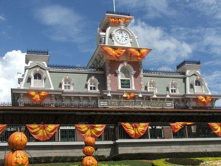 Decoration of halloween on Magic Kingdom Stock Photo