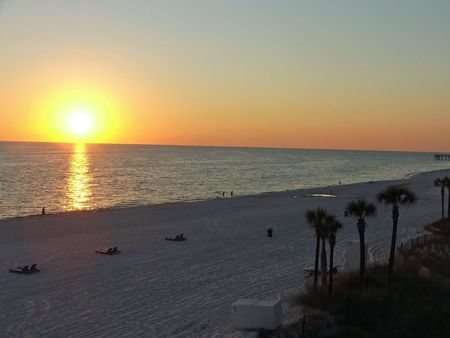 Sunset on Panama City, Florida Stock Photo