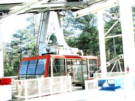 Stone Mountain Park's Skyride Station 写真素材