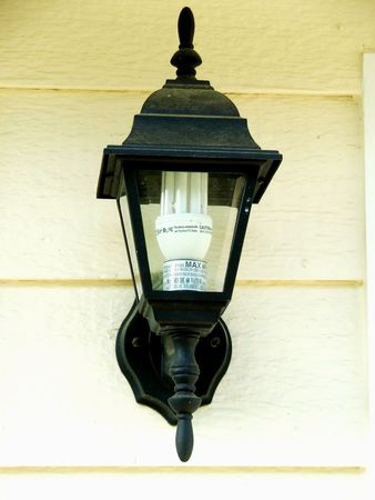 A black outdoor lamp Stock Photo