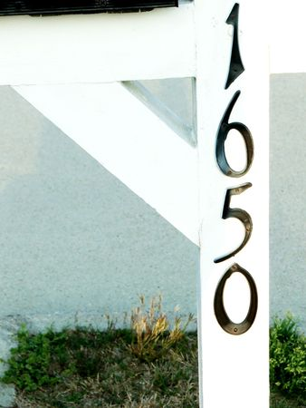 frontyard: A house number