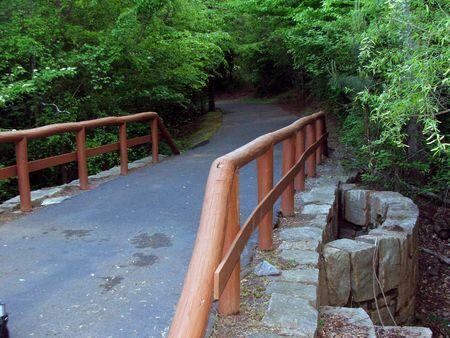 railed bridge on Bunten Park