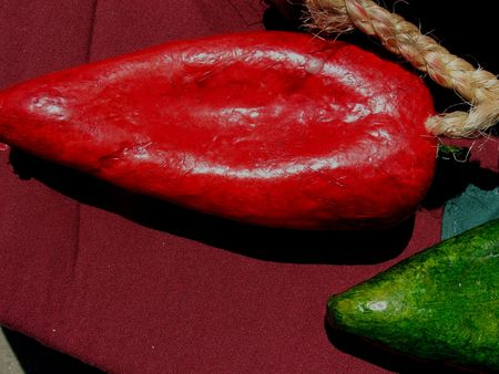 Close-up of a red chili decor