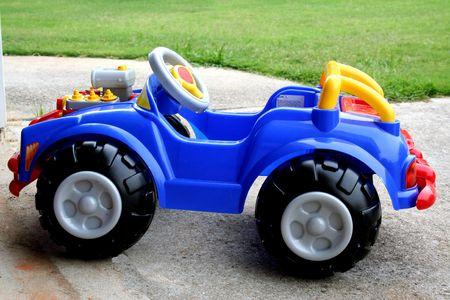Blue mini-car Stock Photo