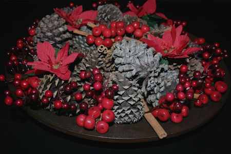 Christmas decor with pine cone Stock Photo - 3948256