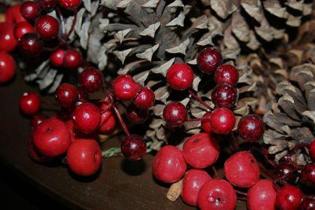 Close-up of a christmas arrangement photo
