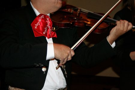 Mariachi playing violin photo