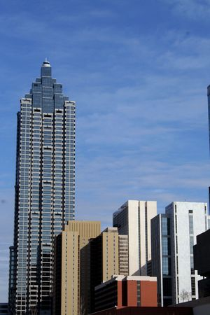 atlanta tourism: Atlantas city buildings Stock Photo