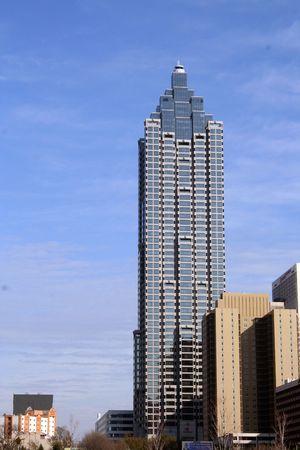 atlanta tourism: Glass building in Atlanta Stock Photo