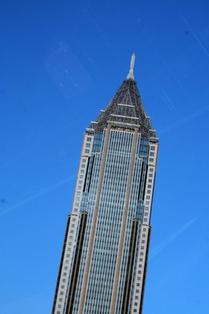 atlanta tourism: Top of a glass building with inclined effect in Atlanta