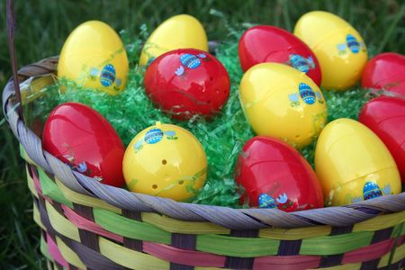 Close-up of a easter basket photo