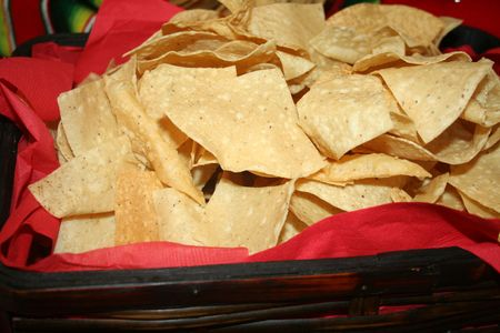 Close-up of Nachos in a basket photo