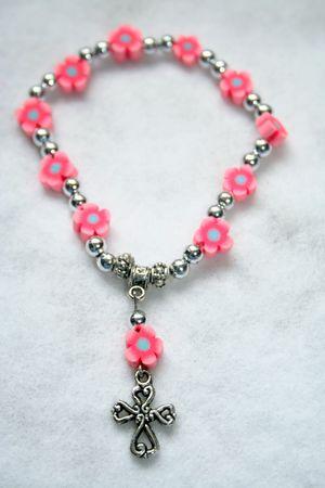 Close-up of a mini rosary