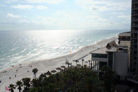 panama city beach: View of the Panama city Beach on sunset