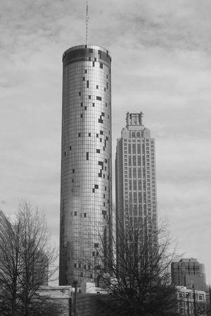 Vue sur la ville en noir et blanc Banque d'images - 5279627