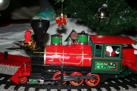 cho choo train under the christmas tree stock photo 6011373 - Train Under Christmas Tree