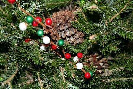 Close-up of a  christmas floral arrangement
