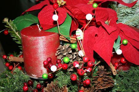 Christmas Floral arrangement photo