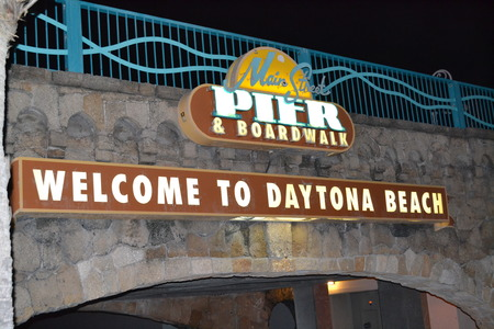 Daytona Beach Beach, Florida Pier and Boardwalk
