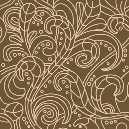 seamless floral pattern background - in chocolate colors Vector