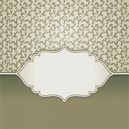 vintage frame with copy space for text and floral pattern - invitation design Stock Vector - 15803294