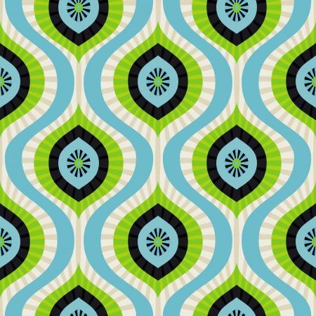 naadloze patroon - abstracte achtergrond in blauw en groen