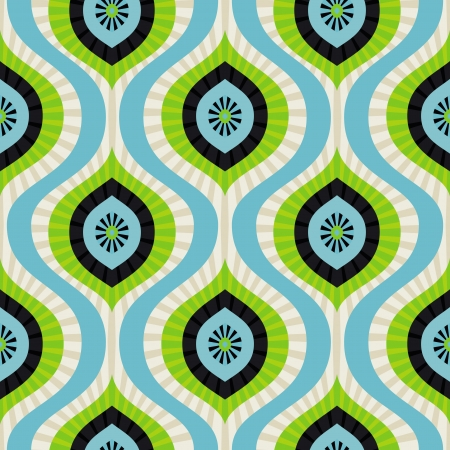 seamless pattern - abstract background in blue and green