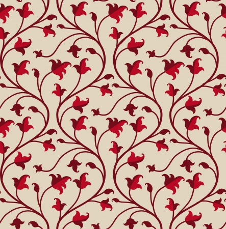 victorian textile: seamless floral  pattern - abstract vintage background Illustration