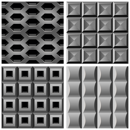 seamless metal: set with metal seamless patterns - abstract background for website