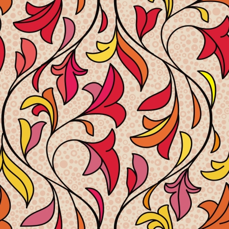 Vector seamless floral pattern - abstract vintage background Vector