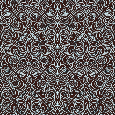 Vector seamless floral pattern - abstract vintage background Stock Vector - 15834642