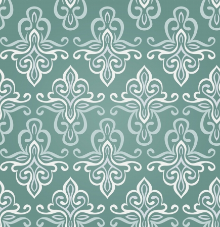 seamless vintage pattern in blue colors - vector illustration Stock Vector - 15870225