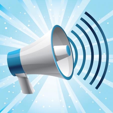 ruidoso: meg�fono icono - concepto de comunicaci�n Vectores