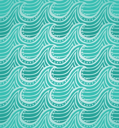 wind surfing: water seamless pattern - vector illustration