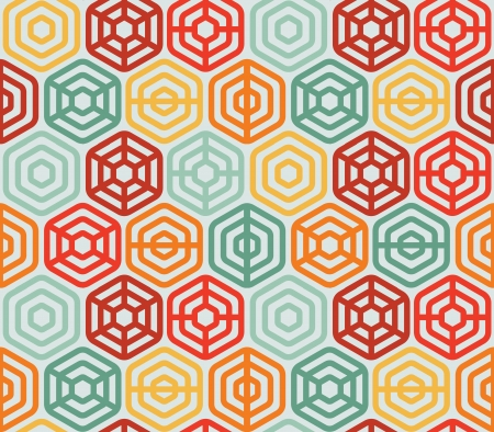 Seamless pattern with hexagons - vector illustration