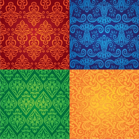 set of vector vintage seamless patterns Stock Vector - 15870172