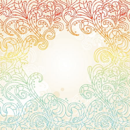 Abstract floral background with copy space for text Stock Vector - 15883962