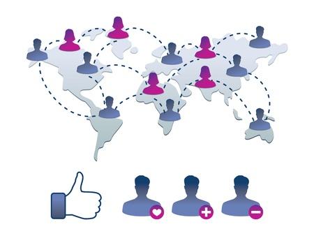 face book: colecci�n de iconos facebook - ilustraci�n vectorial